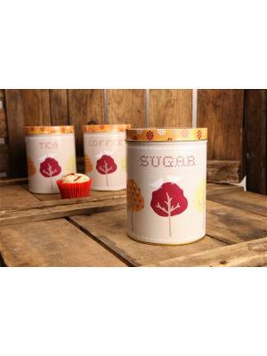Возрождение - емкость для хранения сахара David Mason Design. Цвет: бежевый, красный, оранжевый