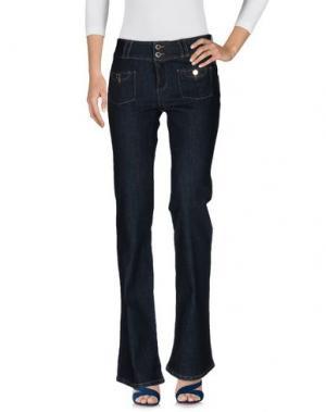 Джинсовые брюки MORGAN DE TOI. Цвет: синий