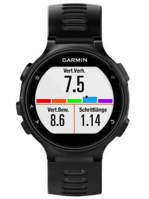 Умные часы Forerunner 735XT HRM-Tri HRM-Swim черно-серые с пульсометром GARMIN. Цвет: черный