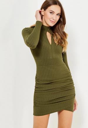 Платье MiraSezar. Цвет: хаки
