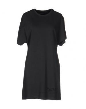Короткое платье EMPATHIE. Цвет: стальной серый