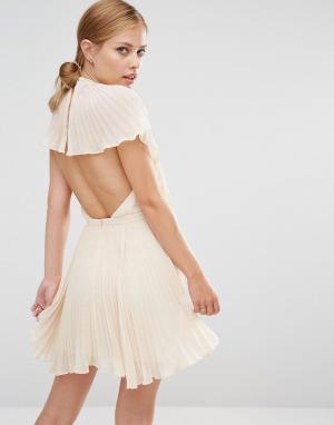 Keepsake Платье мини Come Back. Цвет: кремовый