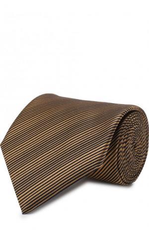 Шелковый галстук Lanvin. Цвет: светло-коричневый