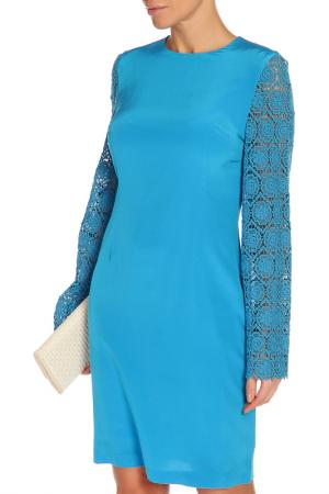 Платье Сильвана, кружево NATALIA PICARIELLO. Цвет: бирюзовый