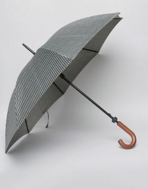 Fulton Зонт с принтом Huntsman. Цвет: зеленый