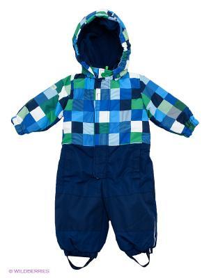 Комбинезон PlayToday. Цвет: темно-синий, синий, зеленый, голубой, белый
