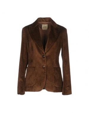 Пиджак GARAGE NOUVEAU. Цвет: темно-коричневый