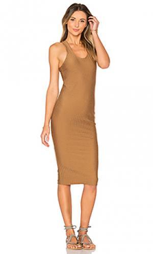 Платье backdoor Acacia Swimwear. Цвет: коричневый