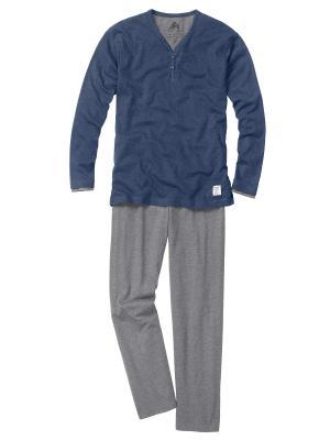 Пижама CECEBA. Цвет: темно-синий, серый меланж