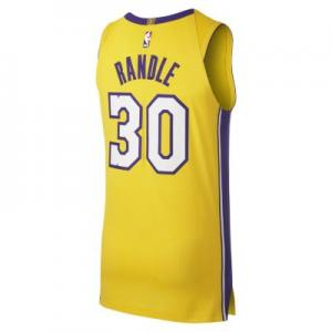 Мужское джерси  НБА Julius Randle Icon Edition Authentic (Los Angeles Lakers) с технологией Connect Nike. Цвет: желтый