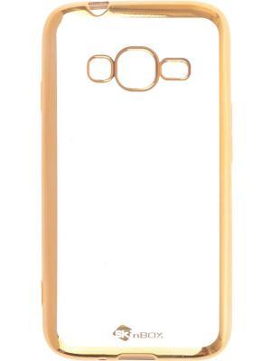 Накладка для Samsung Galaxy J1 mini Prime J106 skinBOX. Цвет: золотистый