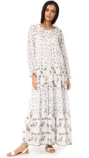 Платье Holiday Warm. Цвет: цветочный белый микс