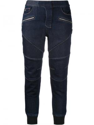 Укороченные джинсовые брюки Loveless. Цвет: синий