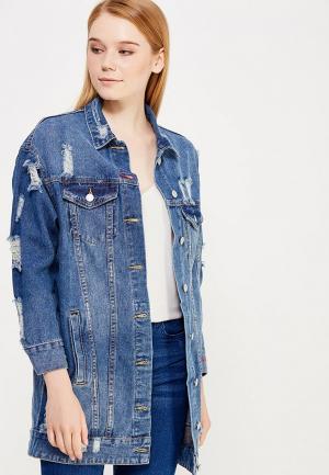 Куртка джинсовая Jennyfer. Цвет: синий