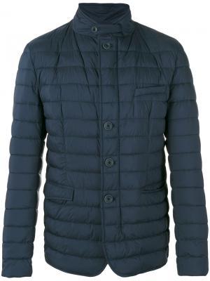 High neck padded jacket Herno. Цвет: синий