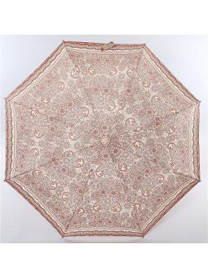 Зонт Zest, 3 слож, ПолнАвто, П-Э Zest. Цвет: темно-бежевый, бежевый