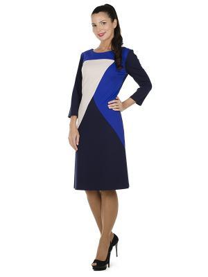 Платье PROFITO AVANTAGE. Цвет: темно-синий, бежевый