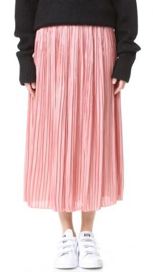 Плиссированная юбка Sunray Flume Tibi. Цвет: нежно-персиковый