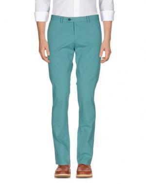 Повседневные брюки MAESTRAMI. Цвет: бирюзовый
