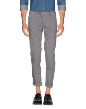 Повседневные брюки B SETTECENTO. Цвет: серый