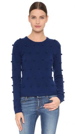 Кашемировый свитер с помпонами Lisa Perry. Цвет: темно-синий