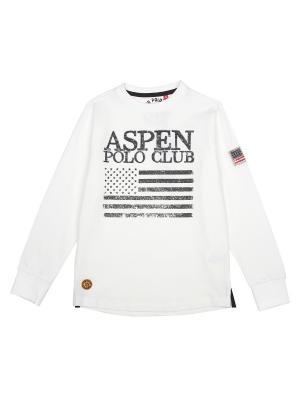 Лонгслив Aspen Polo Club. Цвет: белый