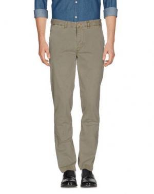 Повседневные брюки QU4TTRO. Цвет: зеленый-милитари