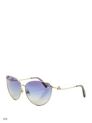 Солнцезащитные очки SK 0026 16W Swarovski. Цвет: серебристый, фиолетовый