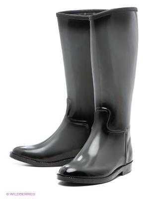 Резиновые сапоги KEDDO. Цвет: серый, черный