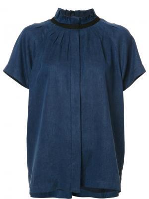 Блузка с плиссировкой Zero + Maria Cornejo. Цвет: синий