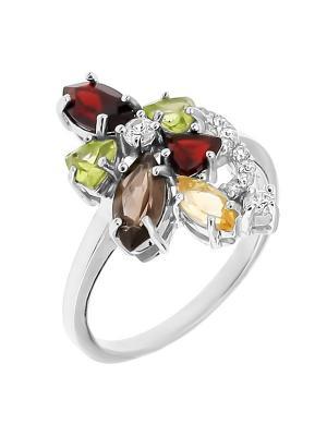 Кольцо BALEX. Цвет: желтый, зеленый, коричневый, серебристый, красный