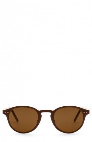 Солнцезащитные очки Montblanc. Цвет: темно-коричневый