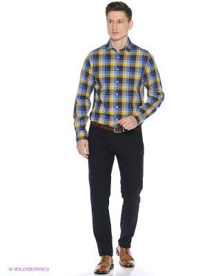 Рубашка Tommy Hilfiger. Цвет: синий, желтый