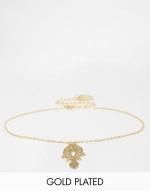 Finchittida Эксклюзивное ожерелье-чокер с небольшой подвеской. Цвет: золотой