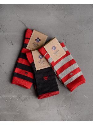 Носки, 3 шт. Modniy JUK. Цвет: красный
