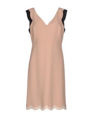 Платье до колена AQUILANO-RIMONDI. Цвет: телесный