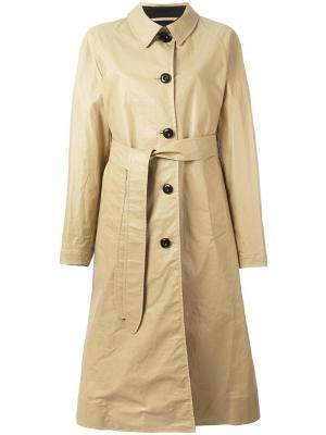 Пальто с поясом Lemaire. Цвет: телесный