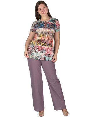 Брюки Regina Style. Цвет: лиловый