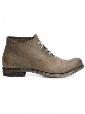 Ботинки по щиколотку A Diciannoveventitre. Цвет: зелёный