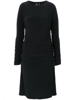 Приталенное платье Norma Kamali. Цвет: чёрный