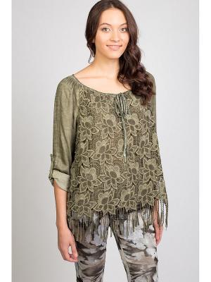 Блуза Amado Barcelona. Цвет: зеленый
