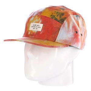 Бейсболка пятипанелька  Stern 5 Panel Red Globe. Цвет: желтый,красный