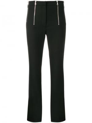 Укороченные расклешенные брюки Rokh. Цвет: чёрный