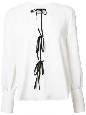 Блузка со шнуровкой Rachel Comey. Цвет: белый
