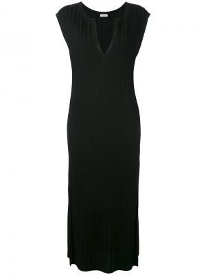 Платье в рубчик Toteme. Цвет: чёрный