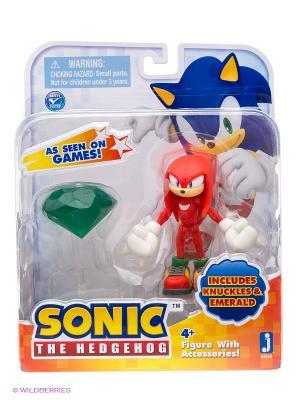 Фигурка Соник - Sonic Knuckles with Master Emerald 9см. Цвет: красный