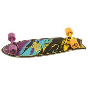 Скейт мини круизер  Kosher Cruiser Yellow/Purple 8.75 x 28 (71.1 см) Dusters. Цвет: мультиколор