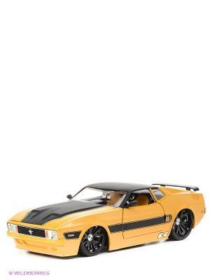 Машинка 1973 Ford Mustang Mach 1 Jada. Цвет: желтый