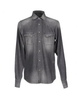 Джинсовая рубашка PENCE. Цвет: серый
