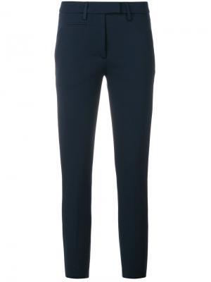 Укороченные брюки скинни Dondup. Цвет: синий